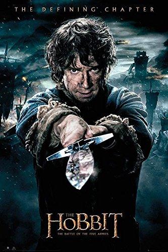 Close Up Poster El Hobbit - The Battle of The Five Armies/La Batalla de los Cinco Ejércitos Bilbo (61cm x 91,5cm)