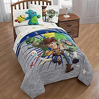Disney Toy Story Woody & Friends: Boys Kids Twin Comforter & Sheets (6 Piece Bed in A Bag) + Homemade Wax Melts