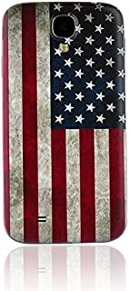 Nsiucion Samsung Galaxy S4 Battery Back Cover, Ancientry USA Flag Texture Replacement Housing Door Plastic Back Cover for Samsung Galaxy SIV S4 i9500 i9505