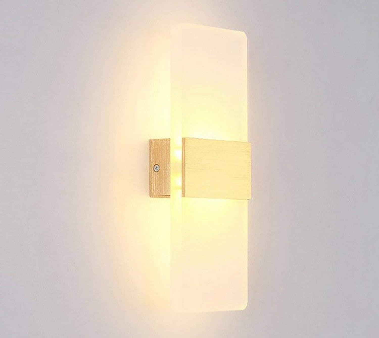 Spiegel vorne Licht, LNordic Licht nach oben und unten Einfache Moderne Mode Schlafzimmer Gang Wohnzimmer Nachttischlampe Spiegel vorne Licht Wandleuchte wasserdicht, beschlagfrei (Farbe  Go
