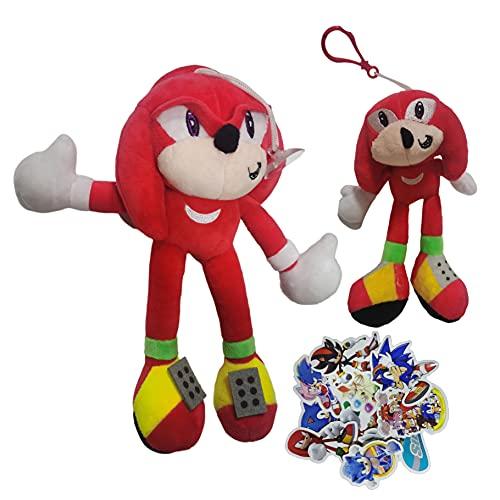 MIAOGO Llavero juguetes suaves Super sonido ratón sónico Super Sonic juguete de peluche Tarsnak erizo muñeca juguete de peluche conjunto