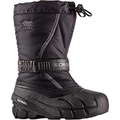 Sorel - Jugend Unisex Kleinkind Kleinkind Flurry Shell Boot, 23 EU, Black/City Grey
