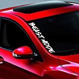 Noizy Graphics 20' Beast Mode #2 JDM 4x4 Side Windshield Banner Car Sticker Truck Vinyl Decal Color: RED