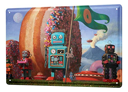 LEotiE SINCE 2004 Plaque en Métal Métallique Poster Mural tin Sign Enseigne Affiche Gothic Donut