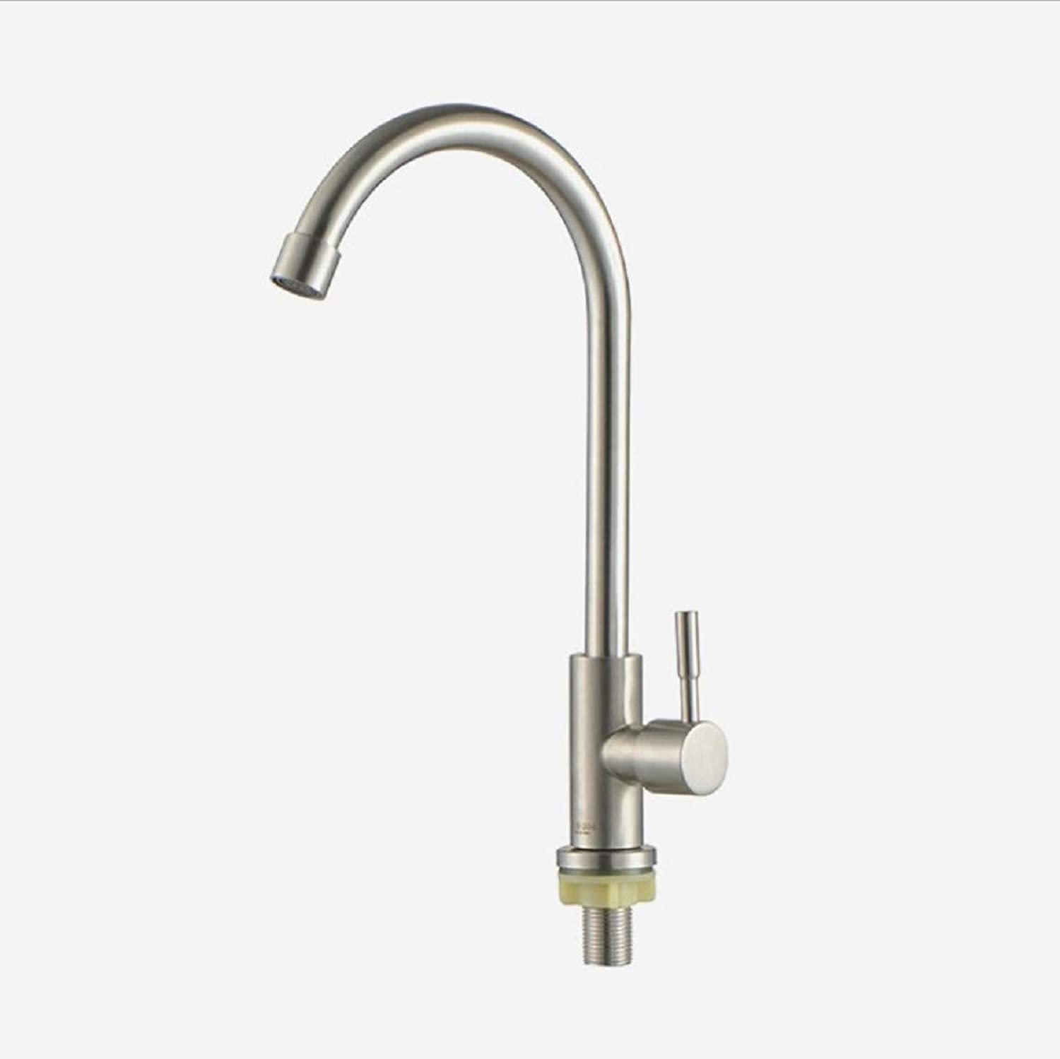 Kitchen Tap Hot and Cold Single Cooling redary Household Washing Basin Lead-Free Balcony Faucet Kitchen Taps Kitchen Sink Mixer Taps Basin Tap