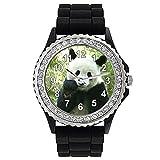 Timest - Panda - Reloj de Silicona Negro para...