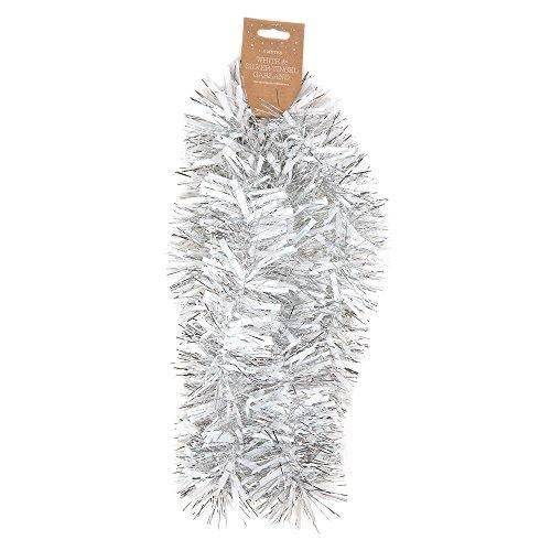 Stalwart z-98226espumillón de Navidad, 2m, blanco/plata