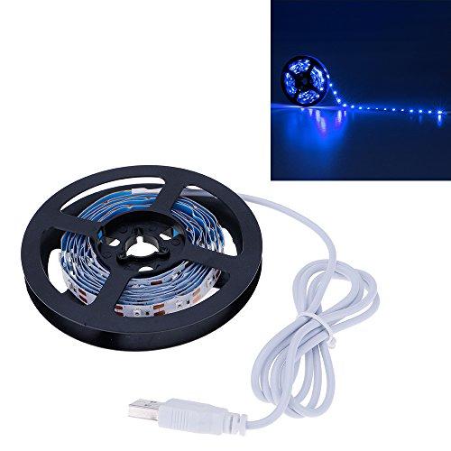 VANKER Flexible 3528SMD USB 5V LED Chambre Boutique Laptop TV Rétroéclairage Bande de Lumière 2M Bleu