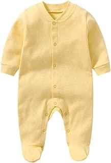 yellow footed pajamas baby