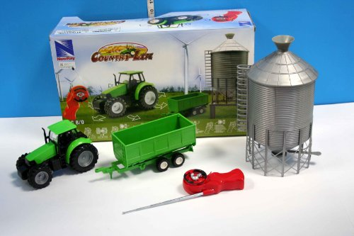 RC Auto kaufen Traktor Bild: 1:32 R/C Farmset mit Traktor, Anhänger und Silo*