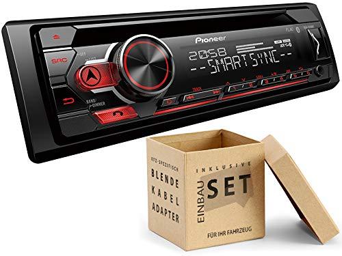 Pioneer DEH-S310BT 1-DIN autoradio met Bluetooth muziekstreaming Android voor Mercedes E-Klasse W211, S211 2002-2009 zwart