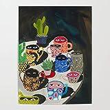 Xpboao Pintar por números DIY - Taza de Agua de Color - Kit de Pintura por números Adultos Niños Junior para - para la decoración de la Pared del hogar - 40x50cm - Sin Marco