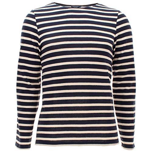 Saint James Langarm Shirt Meridien Modern - Streifenshirt - Bretagne-Shirt, Farben:Blau-Beige(51);Größe:XS