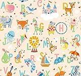 ABC Nursery Fabrics ABC Nursery Stoffe, 0,5 m, von Blend
