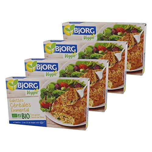 Bjorg Galettes Céréales Emmental Bio - Sans Gluten - 200 g - Lot de 4