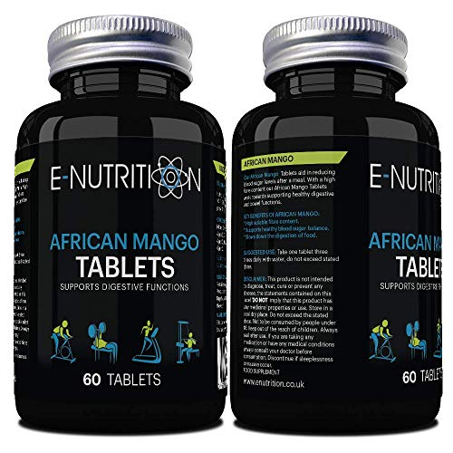 African Mango 1200mg Tablets   Vegan Superfood Supplement   Made in UK   E-Nutrition