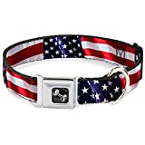 """Fits 18-32"""" neck size and is 1.5"""" wide. The buckle is a miniature authentic SeatBelt Buckle, so you press the center button to release the clasp. Made from high-density polyester and durable  steel components, this collar is built to last and feature..."""
