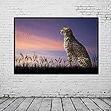 Douwert Colorido Animal Primer Retrato de Leopardo Arte de la Pared Impresión en Lienzo Pintura Póster Imagen de la Pared Decoración HD para el hogar Sin Marco 40x50cm
