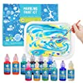 Jar Melo Marbling Painting Kit;Non-Toxic;Painting on Water; Creative Marbling Art for Children 12 Colors