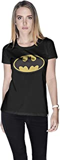 Creo Batman Yellow Super Hero T-Shirt For Women - S