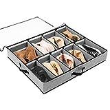 Soledi cajas almacenaje para almacenamiento de zapatos y artículos diversos etc puede guardar debajo la cama y en la parte superior del armario, con una ventana transparente, 1 pcs