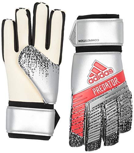 Adidas Predator Competition - Guanti da portiere da calcio, colore argento metallico/nero, 9,5