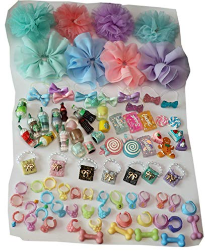 XXRS LPS Accessories Lot (Random 10 PCS) LPS Clothes Bow Skirts LPS Collars Food Drink Vest Bag Outfit for LPS Shorthair Cat Collie Great Dane Cocker Spaniel Husky Dog