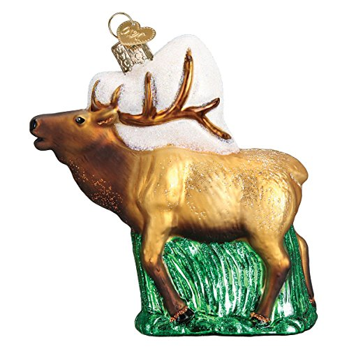 Old World Christmas Glass Blown Ornament Elk (12502)