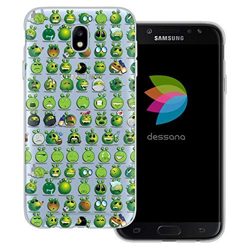 dessana Comic Fantasy - Cover trasparente per Samsung Galaxy J7 (2017) Aliens Grimasse