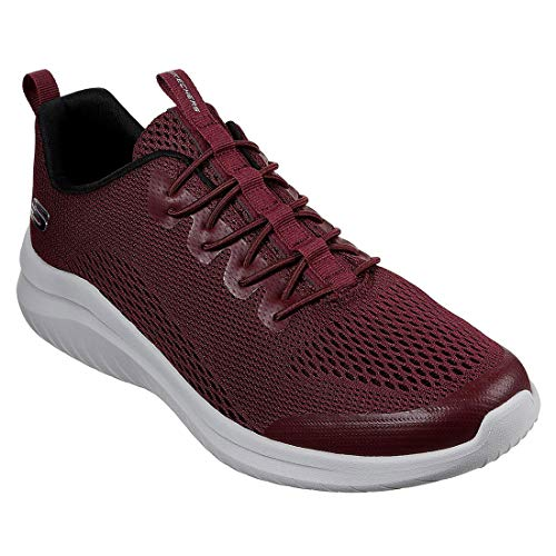 Skechers Men's Ultra Flex 2.0 Kelmer Low Top Sneaker Shoes Burgundy