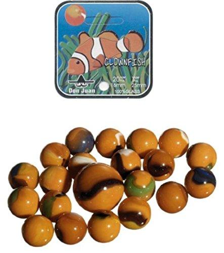 Murmel collectie 14035 - Glazen murmel clown vis