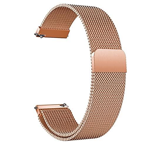ZXF Correa Reloj, Pulsera de metal de reemplazo de malla de acero inoxidable Pulsera de acero inoxidable con cierre magnético SmartWatch Relojes rápidos Relojes Relojes Relojes de reemplazo para mujer