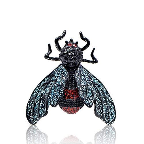 QPODGQ Brosche Amsel-Bienen-Brosche-Weiblicher Netter Insekten-Broschen-Klarer Käfer-Schmuck