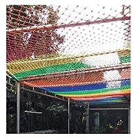 子供の階段バルコニー落下保護ネットカラーナイロンロープネット庭遊び場色装飾ネットフェンス猫ネットハンモック (Size : 2*5M(7*16ft))
