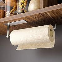kegii porta carta da cucina autoadesivo sottopensile - portarotolo cucina da parete per cucina e bagno, sus 304 acciaio inox