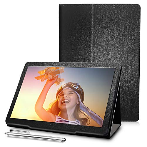 Tablets with Case Android Tablet 10 Inch 3GB RAM 32GB Storage, 1.6GHz Quad-Core Processor, Dual Speakers WiFi Tablets, Black