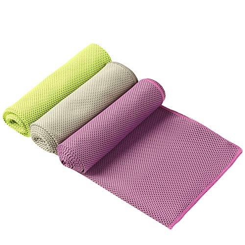 Eono by Amazon - Cooling Towel 3 Pcs 100 x 30 cm Microfiber Towel for...