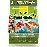 Tetra Pond Sticks – Alimentation Quotidienne idéale pour tous les Poissons de Bassin – Enrichi en Oligo-éléments, Vitamines essentiels, Caroténoïdes – Ne pollue pas l'eau - 4L