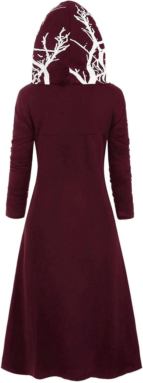 Cardigan Sweaters Women Loose Halloween Tops Sweater Large Size Coat Retro Dress Hooded Elasticity Wine