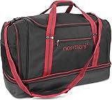 normani Sporttasche 90 | 58 | 28 Liter Reisetasche mit separatem Schmutzwäsche- und Schuhfach Sportlich Schlichtes Design Weekender Farbe 90 Liter Rot