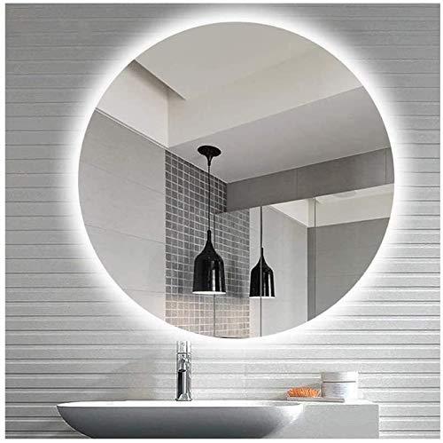 CustomGlass Espejo de Pared Redondo con iluminación led en Varias Medidas con Forma Circular (Redondo 90 cm)