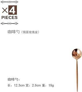 4 Unids/set Juego de Cubiertos de Oro Juego de Cubiertos de Acero Inoxidable 304 Palillos Mantequilla Cuchillo Postre Cuchara Tenedor Tetera Cuchara de Hielo Juego de Vajilla