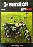 Schönes Prospekt Simson Mokick S 51 Enduro 50ccm - DDR STIL 1984 VEB SUHL