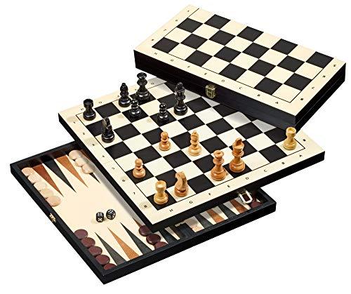 backgammon chess sets Philos 2511 Travel Chess Backgammon Checkers Set, Multi-Colour