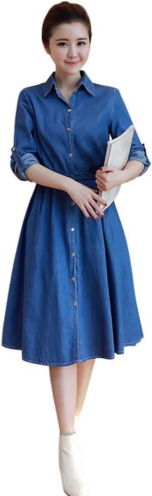 Denim Dress Button Front Cap sleeve Jean Dress