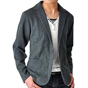 (アローナ) ARONA テーラードジャケット メンズ ジャケット シャドーストライプ/YC A31チャコールショート丈 LL