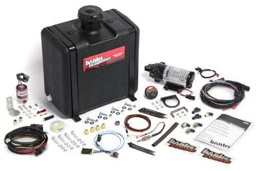 Banks Power 45176 Double-Shot-Water-Methanol Injection System; Incl. Housing/Dig. Controller/ Nozzles/ Pump; 7 Gallon Tank;