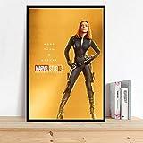 ysldtty Leinwand Gemälde Mcu Film Scarlett Johansson Black