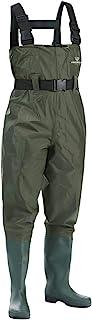 Vadeador de Pesca para Hombre, Botas de Pesca, 100% Impermeable, Nylon y PVC con cinturón de vadeo