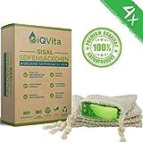4 x Sisal Seifen-Säckchen – 100% Vegan & Plastikfrei – BIO - Naturprodukt – Nachhaltig –...